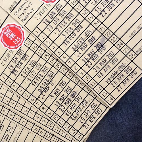 お店に設置の会員カード