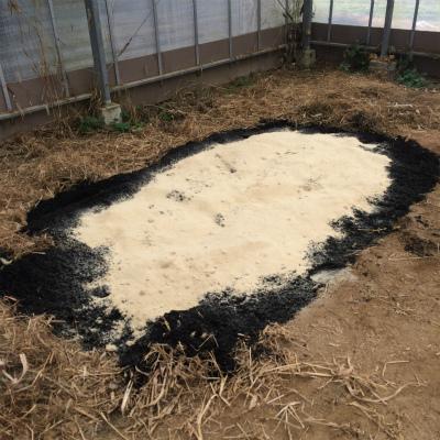 ベースのくんたんの上に乾燥した米ぬか