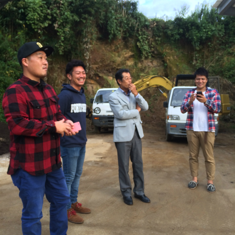 千葉から若手農家が宇陀を視察。真ん中は山口農園の会長♪